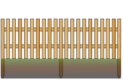 4' (1,2m) board fence1